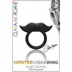 Hipster Vibra Ring - Anneau Vibrant Noir Moustache