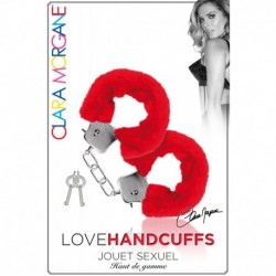 Menotte Love Handcuffs Fourrure Rouge