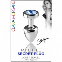 My Little Secret Plug Type Rosebud Medium Bijou Bleu