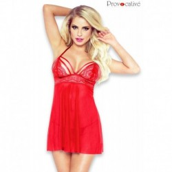 Babydoll Nuisette Rouge Séduction