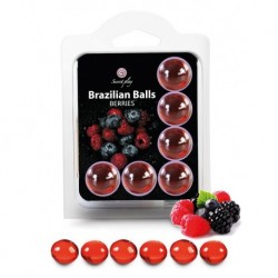 Boules Brésiliennes aromatisées Fruits Rouges X6