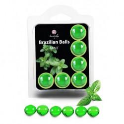 Boules Brésiliennes aromatisées Menthe X6