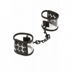 Menottes Transparentes et Noires avec Chainette