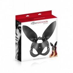 Masque Noir Bunny Simili Cuir