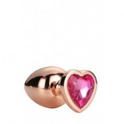 Gleaming Love Coeur Bijou Plug Gold Taille L