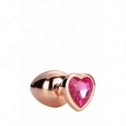 Gleaming Love Coeur Bijou Plug Gold Taille S