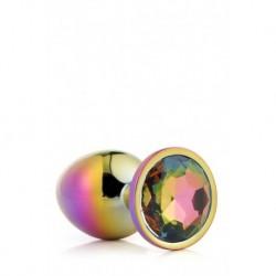 Gleaming Love Bijou Plug Irisé Multicolor Taille L