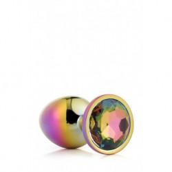 Gleaming Love Bijou Plug Irisé Multicolor Taille M