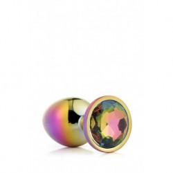 Gleaming Love Bijou Plug Irisé Multicolor Taille S