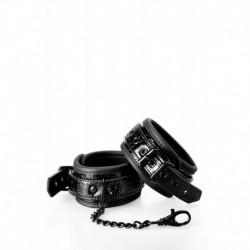 Handcuffs Croco Menottes Poignets Effet Peau de Serpent Noir
